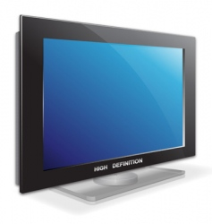 LCD TV set vector image