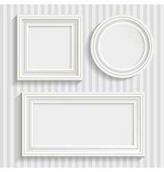Three white frames set vector