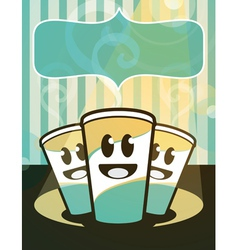 Hot beverages vector