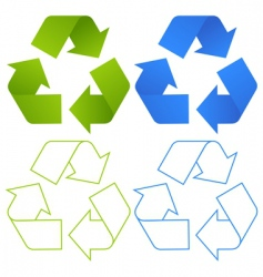 Set of recycling symbols vector