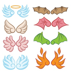 Cute Wings Collections vector image