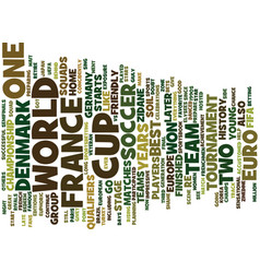 France vs denmark text background word cloud vector