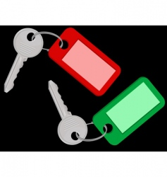 Room keys vector