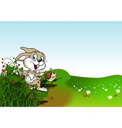 Happy Rabbit vector image