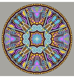 Decorative design of circle dish template round vector