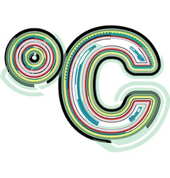 Abstract colorful celcius symbol vector