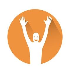 Man with hands in the air vector