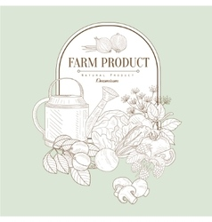 Farm product banner vector
