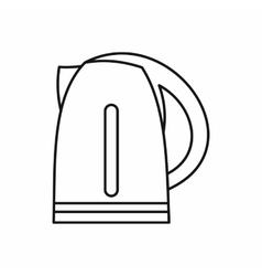 Electric kettle icon outline style vector