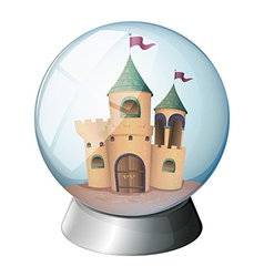 A castle inside a glass dome vector image vector image