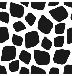 Abstract geometric black white seamless pattern vector