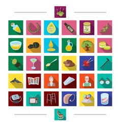 Age attributes industry and other web icon in vector