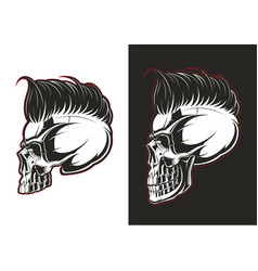 Barber skull profile vector