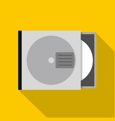 Cd or dvd case icon flat style vector