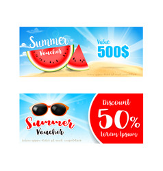 Collection of summer sale promotion for discount vector