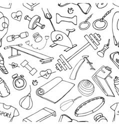 Doodle pattern set of sport vector image vector image