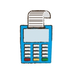 Drawing payment credit card dataphone shop vector