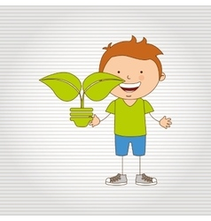 Ecologically kids design vector image
