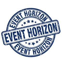Event horizon blue grunge stamp vector