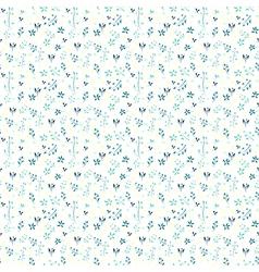 floral pattern with flowers and leaves Gentle spri vector image