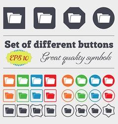 Folder icon sign Big set of colorful diverse vector image