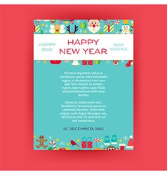 Happy new year invitation template flyer vector