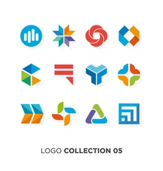 logo collection 5 vector image vector image