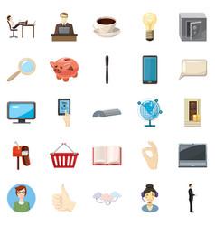 Money bag icons set cartoon style vector
