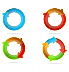multicolored arrows vector image vector image