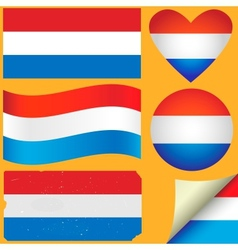 Netherlands icon set of flags vector image vector image