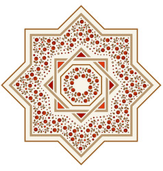 Patterned floor tile moroccan pattern vector