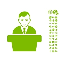 Politician icon with free bonus vector