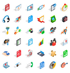 Protect information cons set isometric style vector