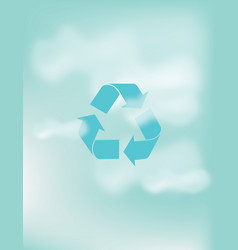 Recycle abstract style on sky background vector