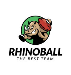 Rhino football logo vector