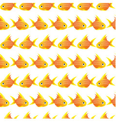 seamless pattern with large goldfish vector image vector image