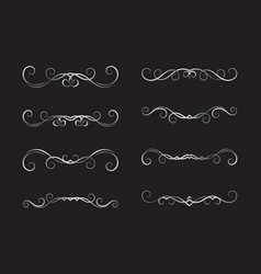 set of hand drawn dividers vector image vector image