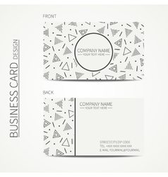 Simple business card design delta trigon vector