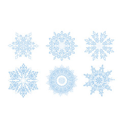 Sow ison set snowflake winter holiday lacy sign vector