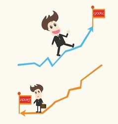 up and down Business man vector image vector image