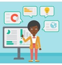 Woman making business presentation vector image