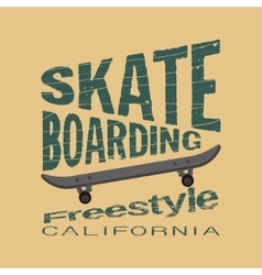 skateboarding t-shirt - inscription typography vector image
