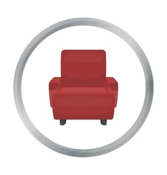 Cinema armchair icon in cartoon style isolated on vector