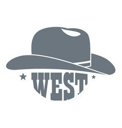 Wild west cowboy hat logo simple style vector