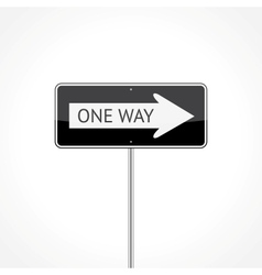 One way traffic sign vector