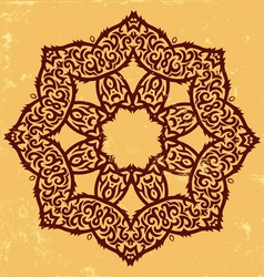 Tribal flower vector