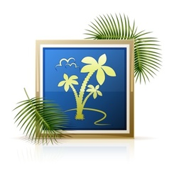 Picture tropic palm vector
