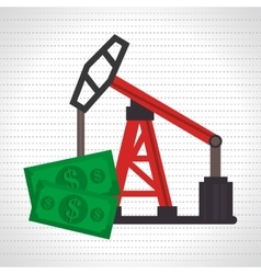 Oil and bills isolated icon design vector