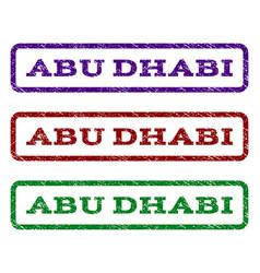 Abu dhabi watermark stamp vector