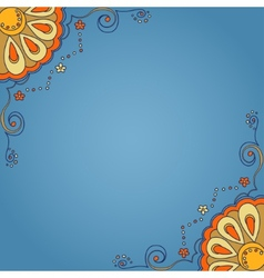 Background with ornamental pattern vector image
